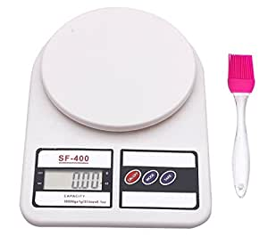 Bulfyss Electronic Kitchen Digital Weighing Scale Upto 10 Kg With Silicone Brush