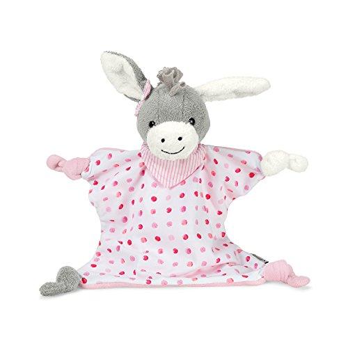 Sterntaler Schmusetuch Emmi Girl, Alter: Für Babys ab Dem 1. Monat, Größe: 30 cm, Farbe: Grau/Pink