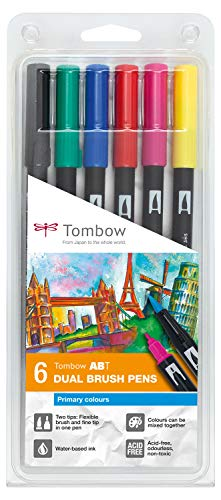 Tombow ABT-6P-1Set da 6Dual Brush Pen - Colori Primari