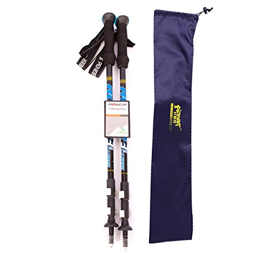 YAXIAO Ultraleichter Carbon-Lock-Bergsteiger-Skistock Trekkingstock- (Color : Blue)