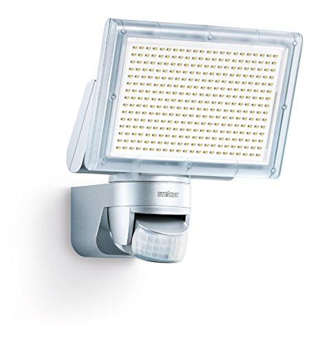 Steinel LED Strahler XLED Home 3 silber, NEU: 4000 K, 20W, LED-Flutlicht, 140° Bewegungsmelder, 14 m Reichweite, 1426 lm (Infrarot-sensor-control)