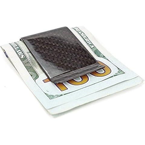 Bastion Clip del dinero pura fibra de carbono