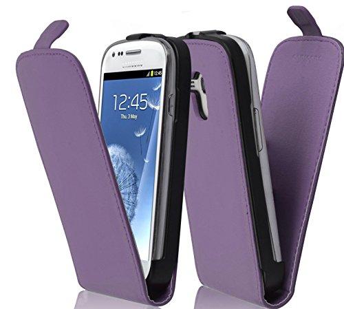 Cadorabo Hülle kompatibel mit Samsung Galaxy S3 / S3 NEO Hülle in Flieder VIOLETT Handyhülle aus glattem Kunstleder im Flip Case Cover Schutzhülle Etui Tasche