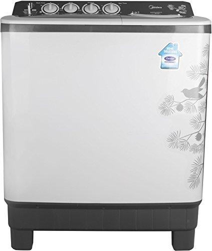 Midea 8 kg Semi-Automatic Top Loading Washing Machine (MWMSA080015, Dark Grey)