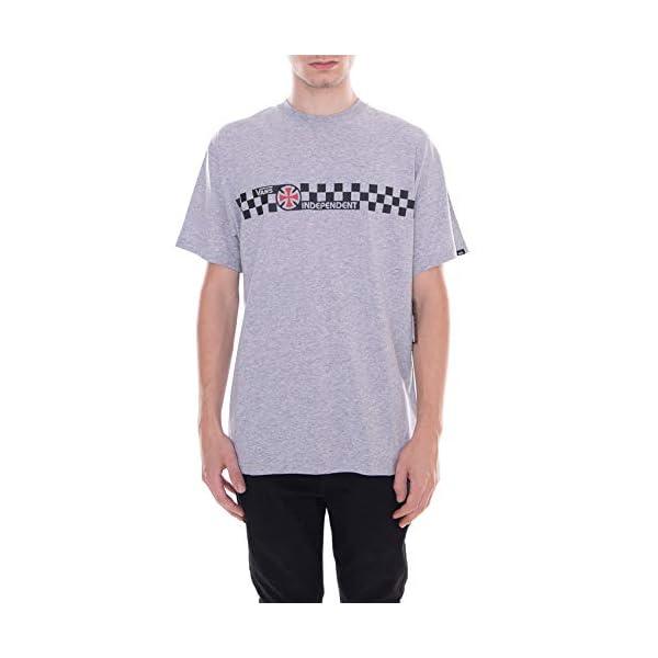 Vans – Camiseta X Independent Checkerboard/Gris