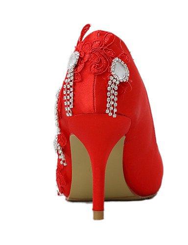 WSS 2016 Chaussures de mariage-Rouge-Mariage / Habillé / Soirée & Evénement-Talons-Talons-Homme 3in-3 3/4in-us5.5 / eu36 / uk3.5 / cn35
