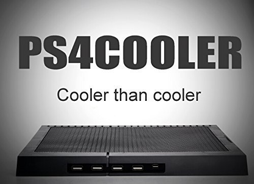 P4COOLER PS4 Horizontal Stand External Cooler Cooling Pad Cooling Fan Chill Mat with 4 ports USB Hub For PlayStation 4 Gaming Console