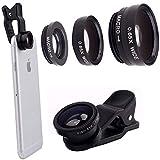 Produkt-Bild: Porum 3-in-1 Clip-Objektiv-Set für Smartphones, Fischauge, Weitwinkel, Makro-Objektiv-Set für Nokia Lumia 630/635