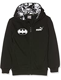 Puma Niños Style Batman Chaqueta Sudadera con capucha, infantil, STYLE Batman Hooded Sweat Jacket, cotton black, 6 años (116 cm)