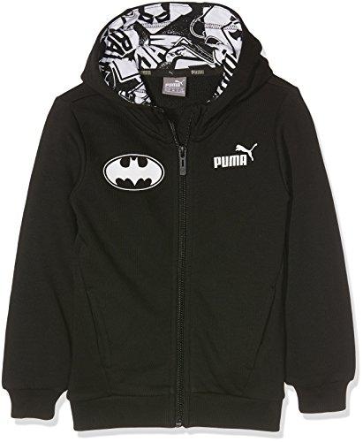 Puma Niños Style Batman Chaqueta Sudadera con capucha, infantil, STYLE Batman Hooded Sweat Jacket, cotton black, 6 años (116 cm)