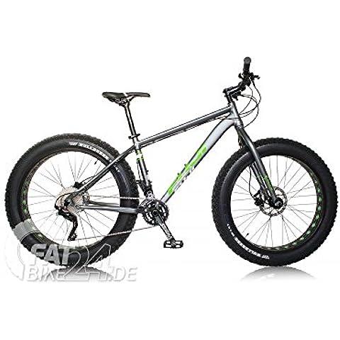 Fuji Wendigo Fatbike Mounten Bike MTB forcella con shimanoxt/cambio SRAM X5, tapered in alluminio e 4.7pollici Vee Tire Bulldozer pneumatici modello 2015, 19
