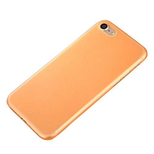 iPhone 7 Custodia, SW Ultra Sottile Caramelle di Colore Plastica Case Cover Giallo arancione