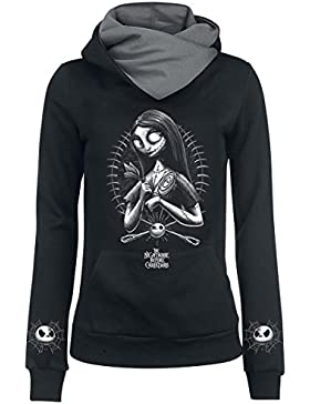 The Nightmare Before Christmas Pesadilla Antes De Navidad Sally - Needles & Pins Jersey con Capucha Mujer Negro...