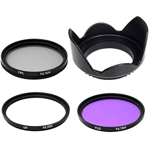 Mondpalast ® FLD UV CPL Filter Sonnenblende Gegenlichtblende 62mm fur Canon EF EF-S Nikon AF FX DX Sony Alpha NEXOlympus Sigma ART 30mm 1.4 Tamron Panasonic Fujifilm
