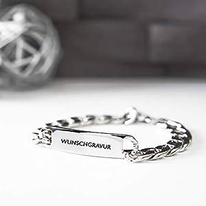 Personalisierbares Armband von BAVELA - Edelstahl-Armband mit individueller und professioneller Wunsch-Gravur