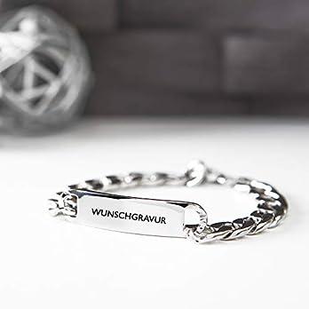 Personalisierbares Armband von BAVELA – Edelstahl-Armband mit individueller und professioneller Wunsch-Gravur