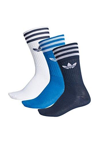 adidas Originals Socken Dreierpack SOLID CREW SOCK DW6827 Blau Weiß Mehrfarbig, Size:35/38 (Adidas Crew Socken)