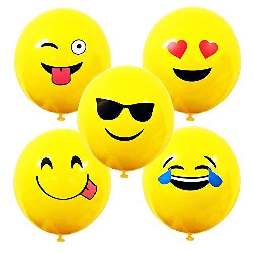 Bright Yellow Smiley Face Emoji Balloons Ideal for Parties, Celebrations, Fun and Games