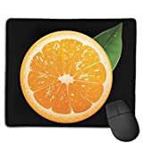Mouse Pad Orange Logo Funny Rectangle Rubber Mousepad 8.66 X 7.09 Inch Gaming Mouse Pad with Black Lock Edge