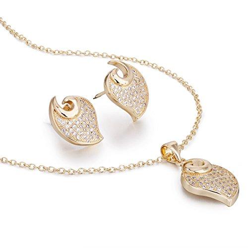 Janeo jewellery sets, love uomo  14k gold  oro 14k/ trasparente