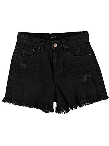 Name it lmtd HIGH WAIST REGULAR FIT Jeans Shorts NITBELINDA 13140449 black denim Gr.164
