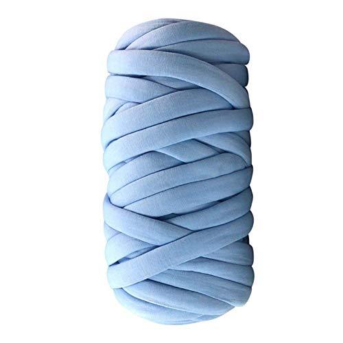 CTlite Strickgarn, dick, handgestrickt, sperrige Garnschnur aus Baumwolle für Nadelfilzen, Handgehäkelt, Handarbeit, Stricken, Bastelarbeiten, dicke Decke, 30 m, 500 g seeblau -