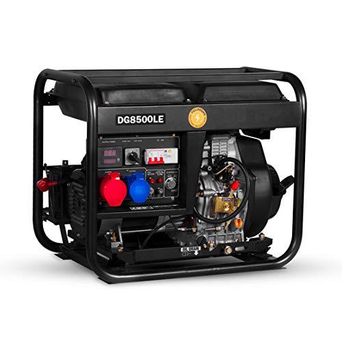 HIOD Grupo Generador de Emergencia Generadores Diesel 5500W, 5.5kva para Casa Al...