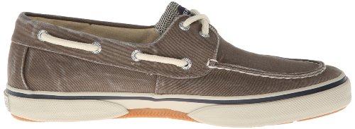 Halyard 2 Eye Boat Shoe -Mens Canvas Navy/Honey Choco/Honey