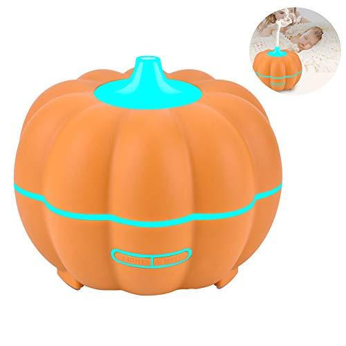 Difusor De Aceites Esenciales, Humidificador UltrasóNico Multifuncional Difusor De Aroma 5 En 1, 7 Tipos De LáMpara De Cambio De Color, Hogar 400Ml,Orange