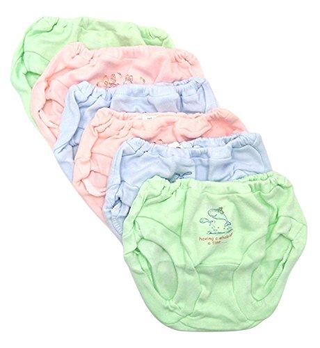 Baby Bucket Soft Cotton Baby Girl's & Boy's Panties (12-36 Months_Multicolor_Trhebas4E), Set Of 6