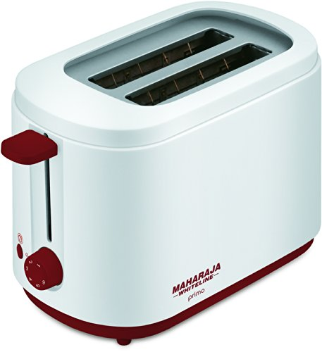 Maharaja Whiteline Primo Pop Up 750-watt Pop Up Toaster (red And White)