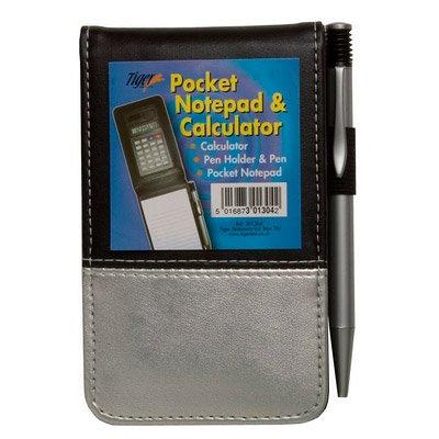 Tiger Gut designte Pocket Notizblock und Taschenrechner (Markenartikel)