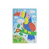 Hilai 1pc Mosaic Diamant Autocollant Art Kits Cristal Puzzle Mini mémoire Jeu de Puzzle pour Enfants Animaux Jouets éducatifs Jouets pour Enfants Puzzle (Pattern Woodpecker)