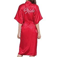 Juleya Estilo Largo Rhinestone Carta Novia Dama de Honor Mañana Vestidos Novia Regalos Fiesta Albornoz Batas