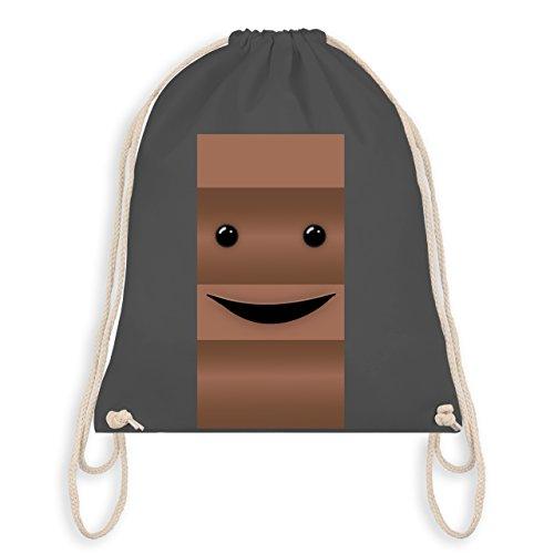 & Fasching - Partner-Kostüm Milch und Schokolade Er - Unisize - Dunkelgrau - WM110 - Turnbeutel I Gym Bag (Er Mann Kostüme)