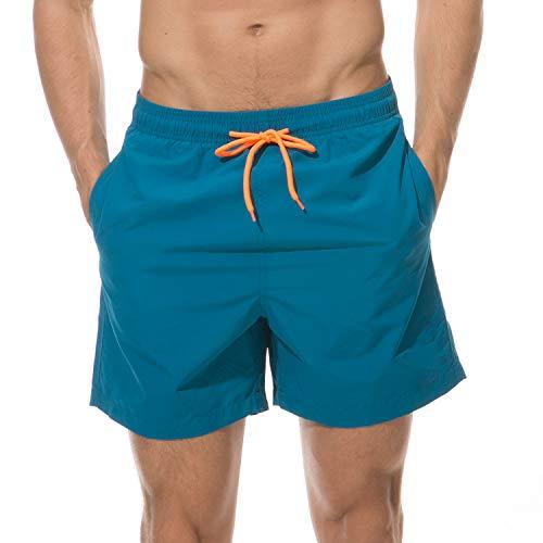 coskefy Badehose für Herren Jungen Badeshorts (Blau, L(EU)-MarkeGröße XXL)