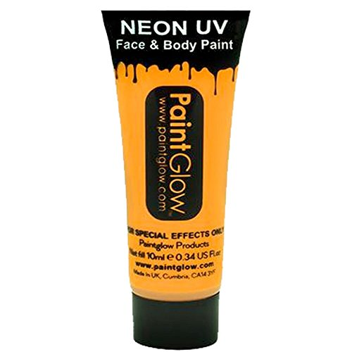 Smiffys - SM45994 - Peinture UV Corps et Visage 10 ml Orange - Taille Unique