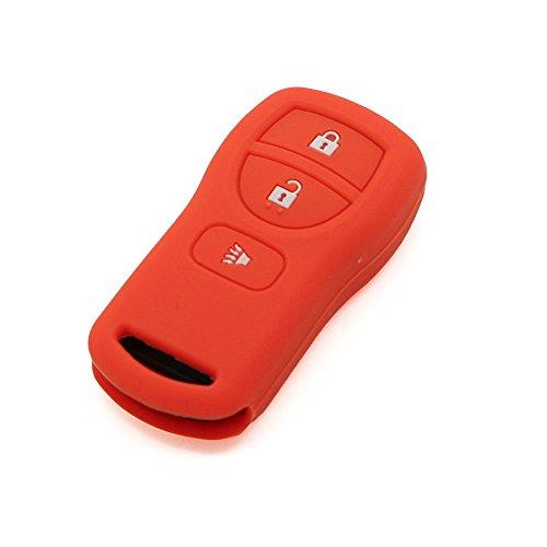 fassport Silikon Cover Haut Jacke Fit für Nissan 3Tasten Fernbedienung Schlüssel cv3503