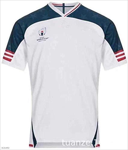 CHERSH Transpirable Camiseta de Rugby Polo de Manga Corta de 2019 Copas del Mundo RWC USA Inicio Fútbol...