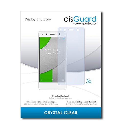 disGuard® Bildschirmschutzfolie [Crystal Clear] kompatibel mit BQ Readers Aquaris A4.5 [3 Stück] Kristallklar, Transparent, Unsichtbar, Extrem Kratzfest, Anti-Fingerabdruck - Panzerglas Folie, Schutzfolie