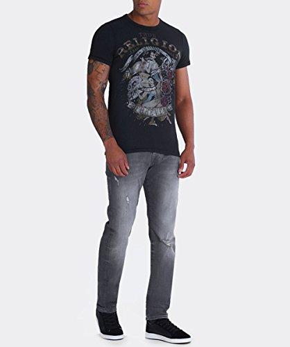 True Religion Herren T-Shirt Ss Pinup Black Schwarz (Black 1001)