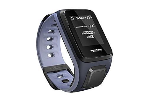 TomTom Runner 2 Music - Montre GPS - Bracelet Fin Bleu Marine / Violet (ref 1REM.001.02)