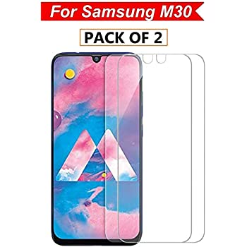 WOW Imagine Tempered Glass for Samsung Galaxy M30 (Pack of 2) (with Installation Kit)