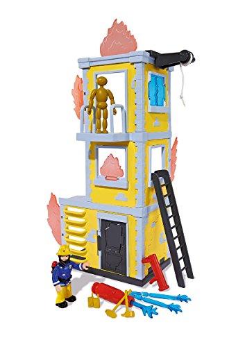 Simba 109257652 - Feuerwehrmann Sam Großer Trainings-Turm mit Figur 42cm
