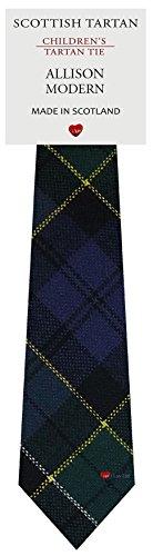 I Luv Ltd Garçon Tout Cravate en Laine Tissé et Fabriqué en Ecosse à Allison Modern Tartan
