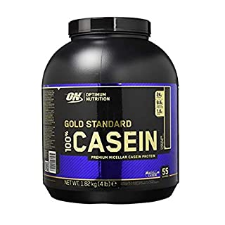 Optimum Nutrition Gold Standard Casein Protein Powder with Glutamine and Amino Acids. Protein Shake by ON - Chocolate Supreme, 55 Servings, 1.82kg