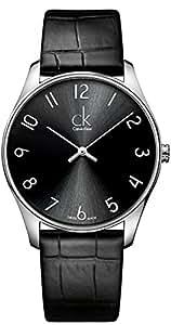 Calvin Klein - K4D211CX - Montre Homme - Quartz Analogique - Bracelet Cuir Noir
