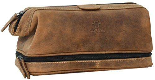 Gusti Cuir studio trousse de toilette vanity pochette produits de beauté homme femme cuir de buffle marron 2H40-20-5wp