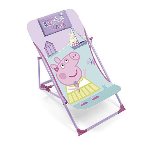 Arditex–Sillón de jardín/Playa ajustable y plegable para niños bajo licencia Peppa Pig en metal, tamaño: 43x 66x 61cm, tela, 61x 43x 66cm)