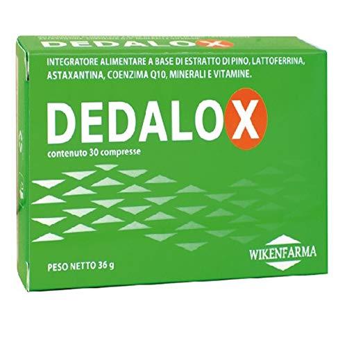 Wikenfarma Dedalox Integratore Alimentare a base di Estratto di Pino, Lattoferrina, Astaxantina, Coenzima Q10, Minerali e Vitamine - 30 Compresse